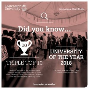 University of the year 2018 - Lancaster University